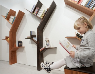 Bookshelf designs inspired by trees