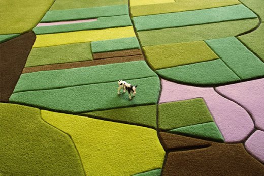 Landcarpet – Satellite photography turned into carpet
