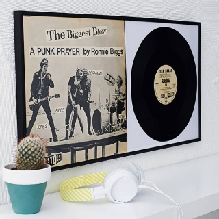 Record covers as wall art