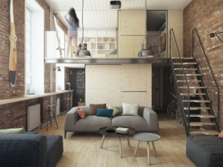 Small apartment that adapts to the owner's needs