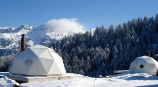 Whitepod eco-luxury hotels in the Swiss Alps