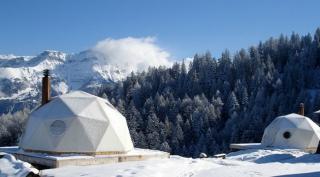 Whitepod eco-luxury hotels in the Swiss Alps